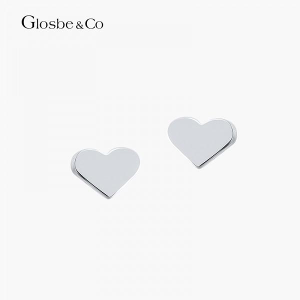Khuyên Tai Bạc Nữ Heart Glosbe