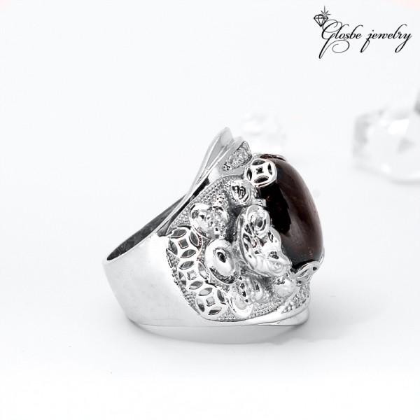 Nhẫn Nam Cóc Thần Tài Đá Thiên Nhiên Sapphire