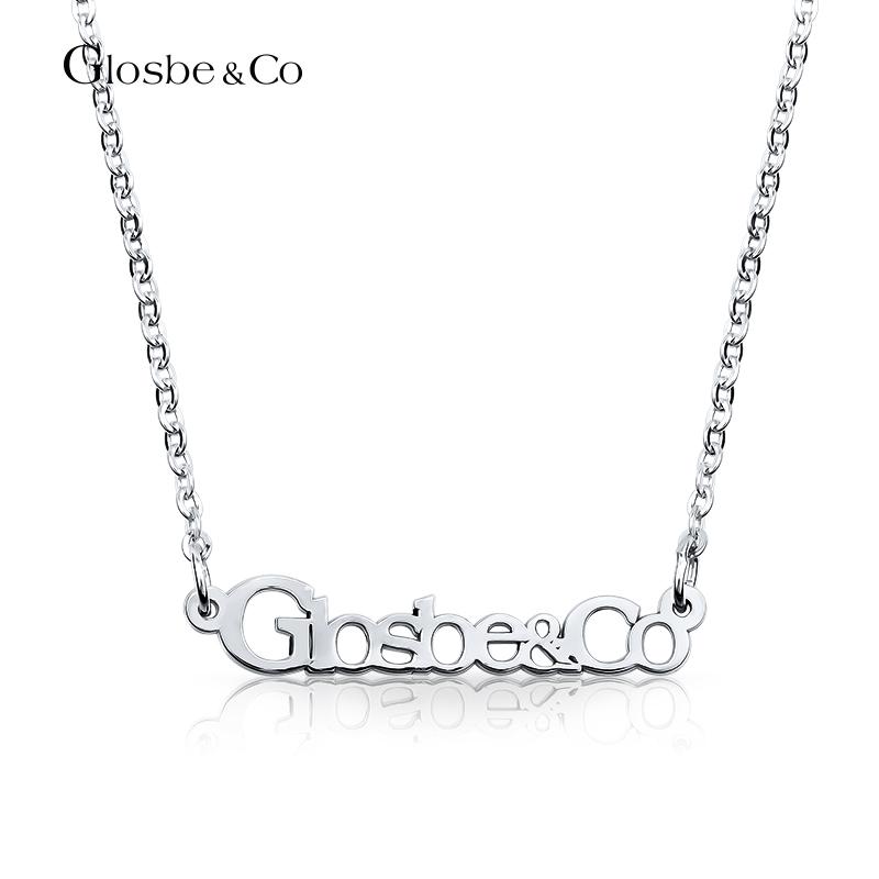 Dây chuyền bạc nữ khắc tên Glosbe & Co